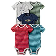 Carter's Baby Boys' 5-Pack Multi Striped Bodysuits Newborn