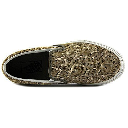 Varebiler Unisex Sprukket Metallic Klassiske Slip-on Sneaker Tan Slange