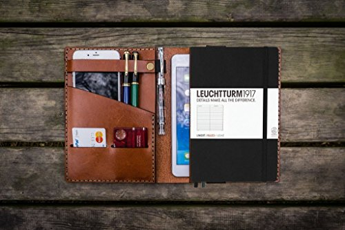 Leather Leuchtturm1917 A5 Notebook Cover - Brown