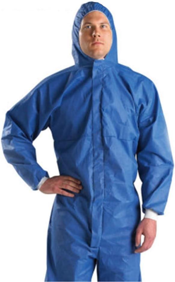 Heatile Ropa de protección química con Capucha Antibacteriano y a Prueba de Polvo Traje de Aislamiento Adecuado para protección Industrial, científica y Personal