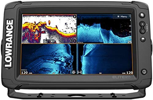 Elite-9 Ti2-9-inch Fish Finder Active Imaging 3-in-1Transducer, Wireless Networking, Real-Time Map Creation Preloaded C-MAP US Inland Mapping …
