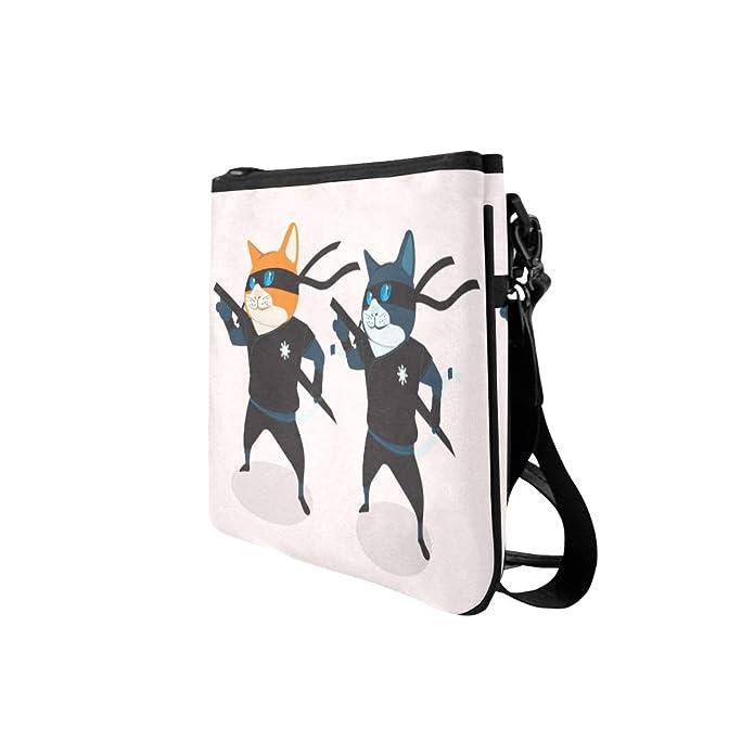 Amazon.com: Bolso de nailon fino, diseño de gato Ninja ...