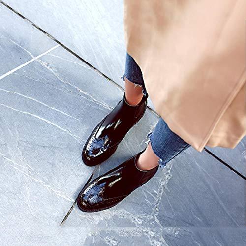 Stivali Le Lace Scarpe A Tacco Donne Stivali Stivali A Un Moda Stivaletti Inverno Formali Di Piatti Similpelle Polpaccio Delle In Scarpe Xue Caviglia Punta Metà Stivali Punta up qSE61