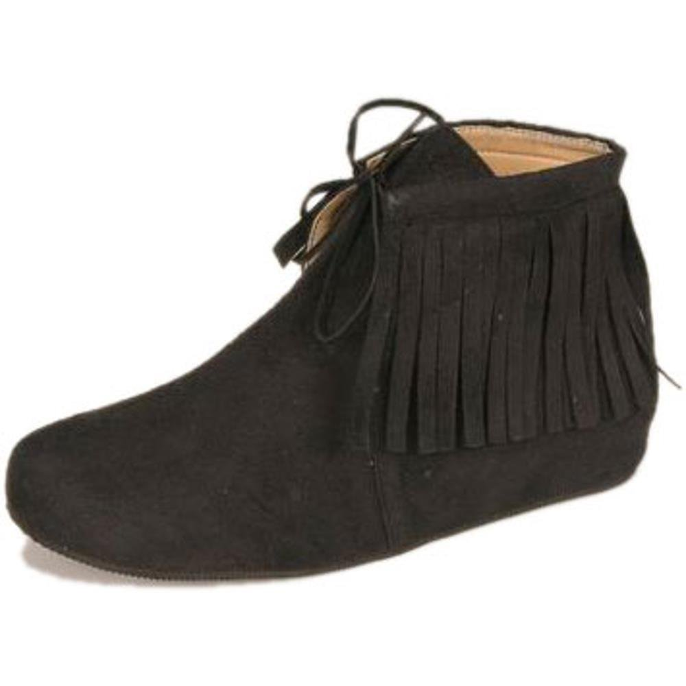Adult Women's Black Indian Shoes (Size: Large 9-10) by Platts (Image #1)