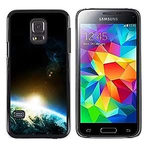 Shinning spot Vigas - Metal de aluminio y de plástico duro Caja del teléfono - Negro - Samsung Galaxy S5 Mini (Not S5), SM-G800