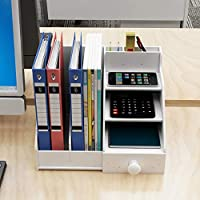Natwind Office 4-Tier Paper Organizer with File Document Holder Office Suppliers Storage for Paper Letter Accessories Office Desktop Organizer for Office Home