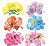 5.5'' HIBISCUS FLOWER HAIR CLIPS, Case of 288