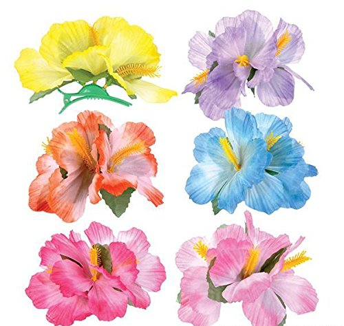 5.5'' HIBISCUS FLOWER HAIR CLIPS, Case of 576 by DollarItemDirect