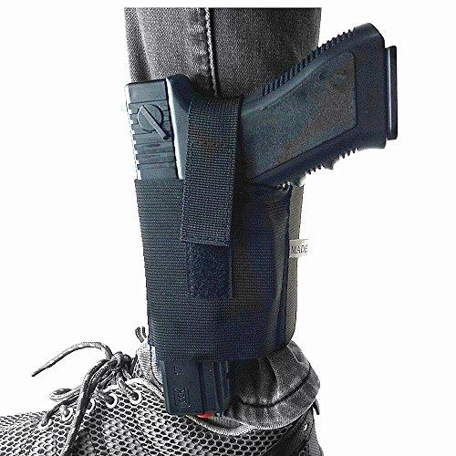 Concealed Tactical Gun Holster Stealth Elastic Wrap Carry Pistol Leg Holster Open Top Hook & Loop Secure Strap Hidden Pistol Holster fit Glock 1911 USP M92 P220 22s 25s 380s 9mms 40s and 45s Handguns