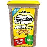 Temptations Jumbo Stuff Cat Treats, Tasty Chicken Flavor,14 oz Tub