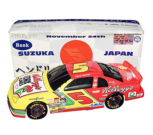 - AUTOGRAPHED 1996 Terry Labonte #5 Kelloggs SUZUKA JAPAN RACE Hendrick Rare Black Window Bank Signed Action Collectible 1/24 Scale NASCAR Diecast Car with COA (1 of 7,500 produced)