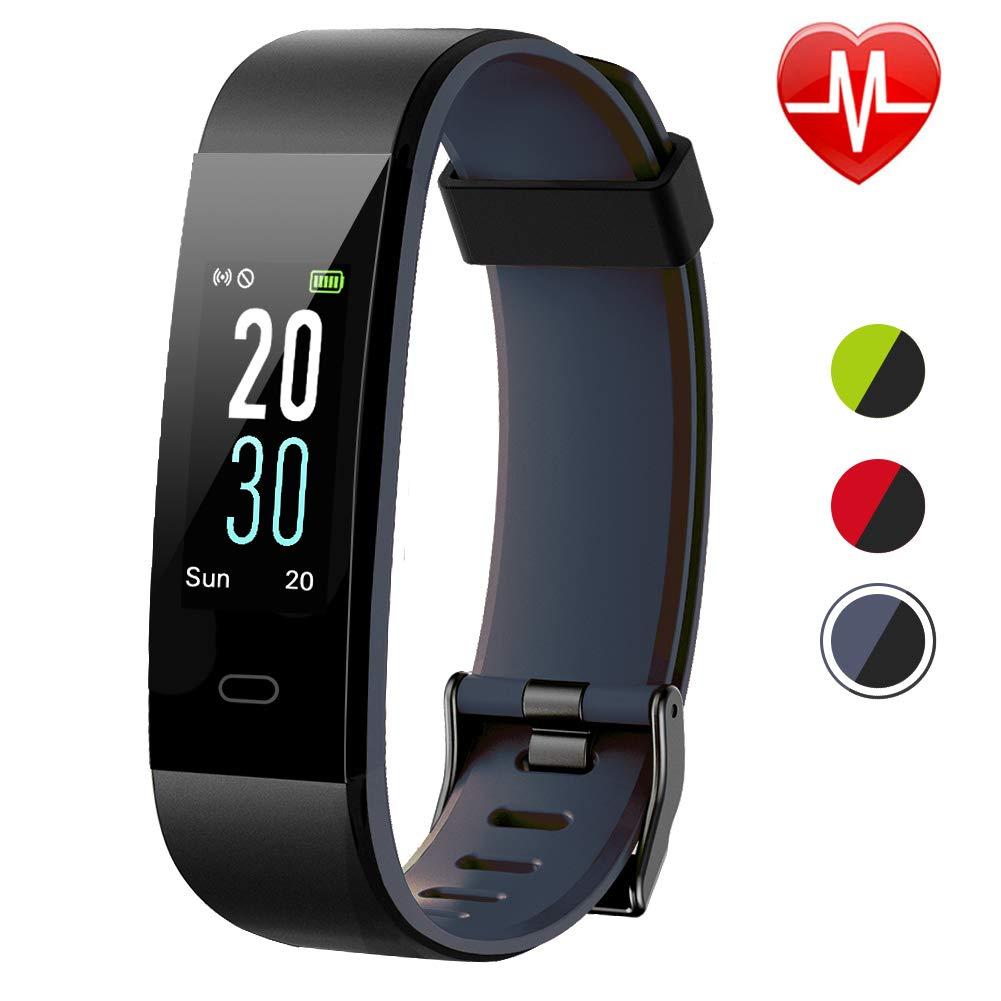 Lintelek Fitness Tracker Color Screen Heart Rate Sleep Monitor Pedometer, Waterproof Activity Tracker Fitness Alarm Watch 14 Sports Modes Men Women Kids