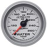 Auto Meter 4955 Ultra-Lite II 2-1/16'' 100-260 F Full Sweep Electric Water Temperature Gauge