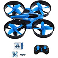 Amazingbuy - JJRC H36 Mini Nano Quadcopter Drone 2.4G 4CH 6 Axis Headless Mode Remote Control RTF Mode 2, Blue