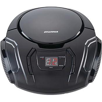 Sylvania Portable CD Boombox with AM/FM Radio (Black)