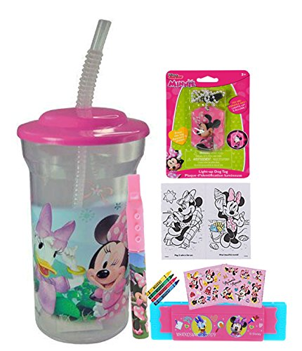 Minnie Mouse Girls Fun Sip Favor Cup! Valentines Day Gift, Easter Basket Filler, Stocking Stuffe ...