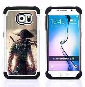 - Eclipse warrior Japanese Samurai/ H??brido 3in1 Deluxe Impreso duro Soft Alto Impacto caja de la armadura Defender - SHIMIN CAO - For Samsung Galaxy S6 G9200