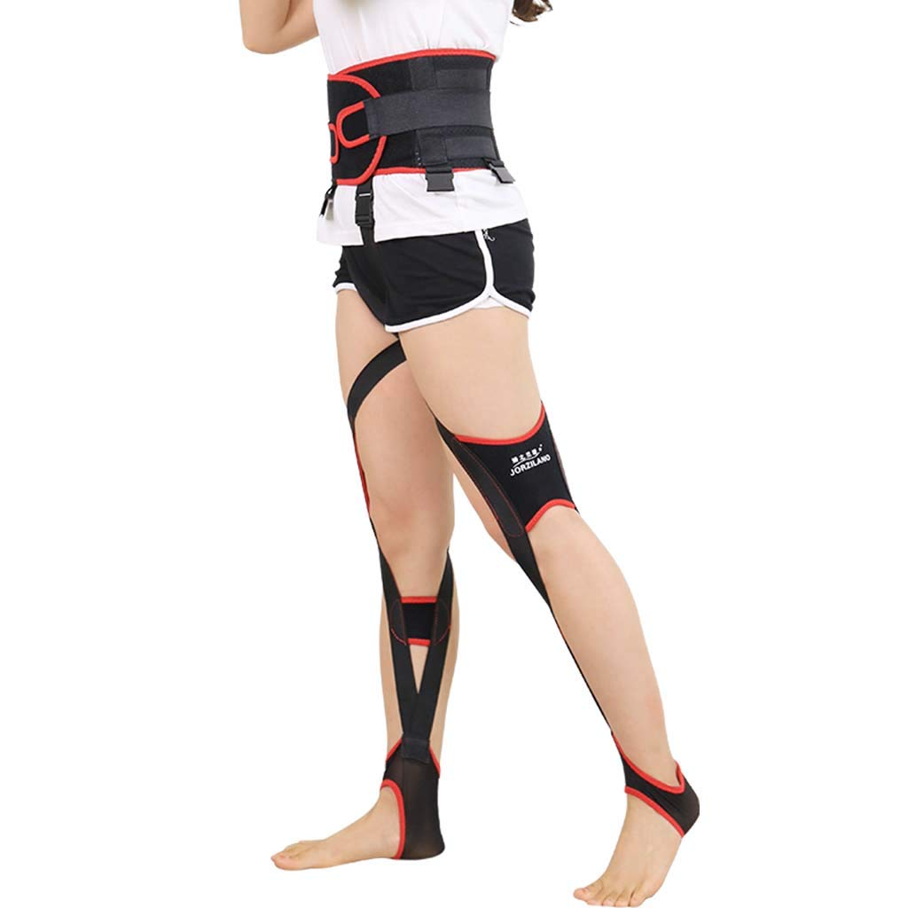 Hcwlxjy Legs Posture Corrector Unisex O/X-Type Bow-Legged Correction Bandage Belt Knock Knees Recovery Beauty Straightening Belt Fixer,Black,L by Hcwlxjy
