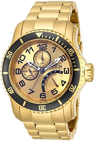 Amazon.com: Invicta Men's 15343 Pro Diver 18k Gold Ion-Plated Stainless  Steel Watch: Invicta: Watches