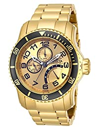 Invicta Men's 15343 Pro Diver Analog Display Japanese Quartz Gold Watch