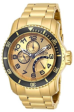 Invicta Mens SYB Pro Diver 18k Gold Ion-Plated Stainless Steel Watch