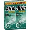 Afrin No Drip 12-Hour Pump Mist, Severe Congestion - 2 pumps each 2 / 3 oz - Total 1.33 oz