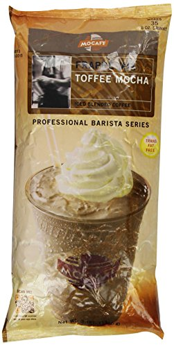 MOCAFE Frappe Toffee Mocha, Ice Blended Coffee, 3-Pound Bag