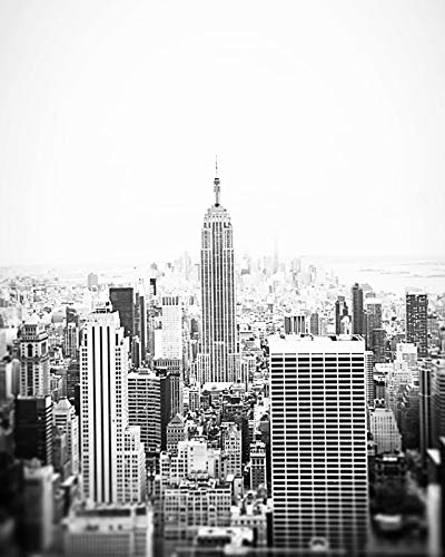 Empire State Building Black and White Photography New York City 8x10 inch ()