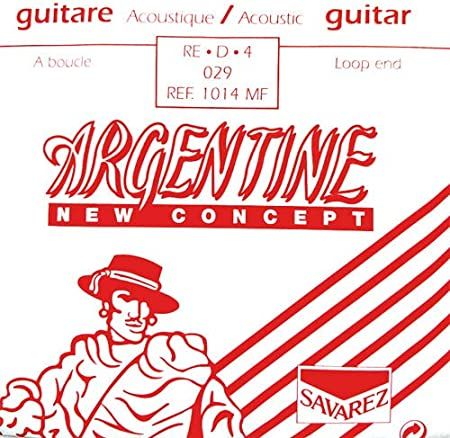 Savarez Cuerdas Para Guitarra Acustica Argentine Re4-1014Mf, Con Lazo