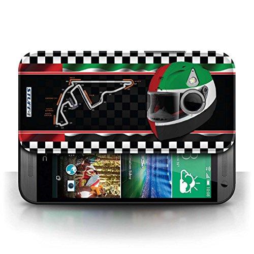 Etui / Coque pour HTC One/1 Mini 2 / AbuDhabi conception / Collection de F1 Piste Drapeau