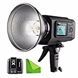 EACHSHOT AD600M Manual Version HSS 1/8000s 600W GN87 Outdoor Flash Light (Godox Mount) with Lithium Battery 8700mAh for Canon Nikon + X1T-C Wireless Trigger For Canon With EACHSHOT Cleaning Cloth