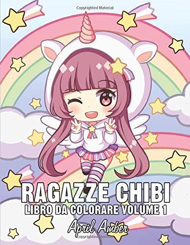 Ragazze Chibi Libro Da Colorare Volume 1 Per Bambini Con