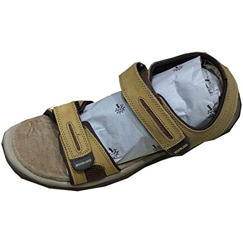 d830ad121 Leather Shoes Men Woodland Shoegaro Outlander Sandals Skin Color - 8  Buy  Online at Low Prices in India - Amazon.in