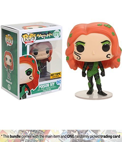 Funko Poison Ivy (Hot Topic Exclusive) POP! Heroes x Batman Vinyl Figure + 1 Official DC Trading Card Bundle (13064)