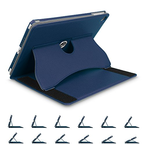 Fintie iPad 9.7 2018 2017 / iPad Air 2 / iPad Air Case - [Corner Protection] Multi-Angle Viewing 360 Degree Rotating Cover w/Auto Sleep/Wake for iPad 6th 5th Gen, iPad Air 1 2, Navy by Fintie
