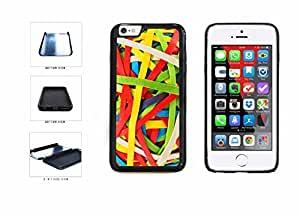 Rainbow Colored Rubberband Ball Illusion Dual Layer Phone Case Back Cover Apple iphone 6 4.7 ( es screen) includes fashion case Cloth and Warranty Label