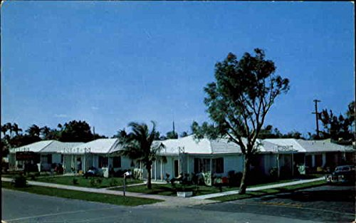 El Patio Motor Court West Palm Beach, Florida Original Vintage Postcard