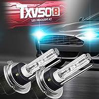 Metal Base 2pcs//set Sipobuy H7 55W HID Xenon Bulbs Headlight Replacement Lamp 5000k Warm White