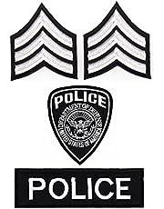 Police sergeant patch set 4 stuks strijkafbeelding patch