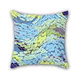 PILLO 18 x 18 inches / 45 by 45 cm geometry throw pillow covers,double sides is fit for valentine,study room,home,him,adults,bar seat