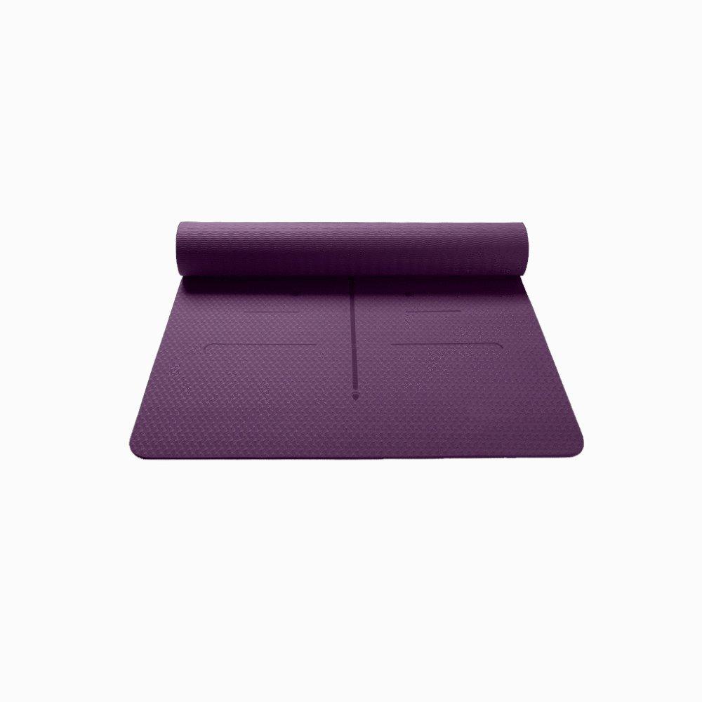 BINLIU 8mm Premium TPE Yoga-Matte Mit Tragegurt Eco Friendly Fitness-Trainingsmatte 183cm  62cm,B
