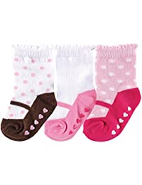 3 Pack Shoe Socks, Pink