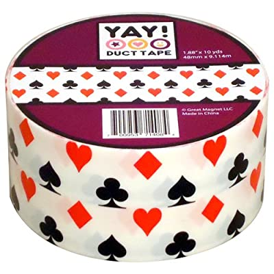 """House of Cards Craft Duct Tape 1.88"""" x 10 yds Playing Card Suits"""
