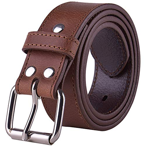 POYOLEE Concealed Carry CCW Leather Gun Belt | Full Grain Leather Belt for Gun Carry | Mens Heavy Duty EDC Belt 1 1/2-Inch