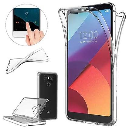 XCYYOO Funda para LG G6 Silicona,Carcasas para LG G6, [Carcasa Protectora 360 Grados Full Body]e Suave Ultrafina Gel Silicona TPU Anti-Choque ...