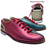 Bowlerstore Womens Classic Elite Rental Bowling Shoes (10 M US, Red/Teal/Tan)