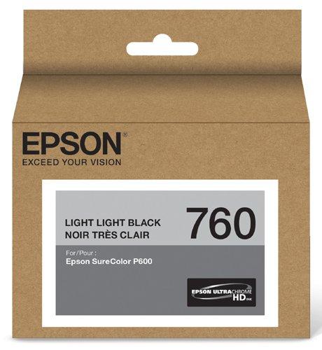 Light Black Cartridge (Epson T760920 UltraChrome HD Light Light Black Standard Capacity Cartridge Ink)