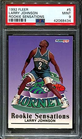 Amazoncom 1992 Fleer Rookie Sensations 5 Larry Johnson Hornets