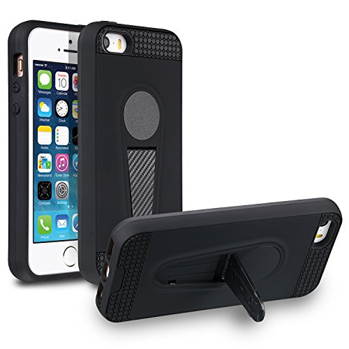 Xawy iPhone 5s Case, iPhone 5 Case,iPhone se case, Xawy Slim Fit Shell Hard Soft Feeling Full Protective Anti-Scratch&Fingerprint Cover Case Compatible with iPhone 5s/5/se (Black)