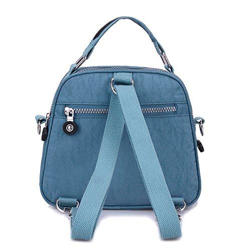 Gris Petit en sac Couches Mini sac résistant pochette couleur bonbon pour l'eau à Bleu nylon à portable Chou main Double Téléphone RxCwrqgR8